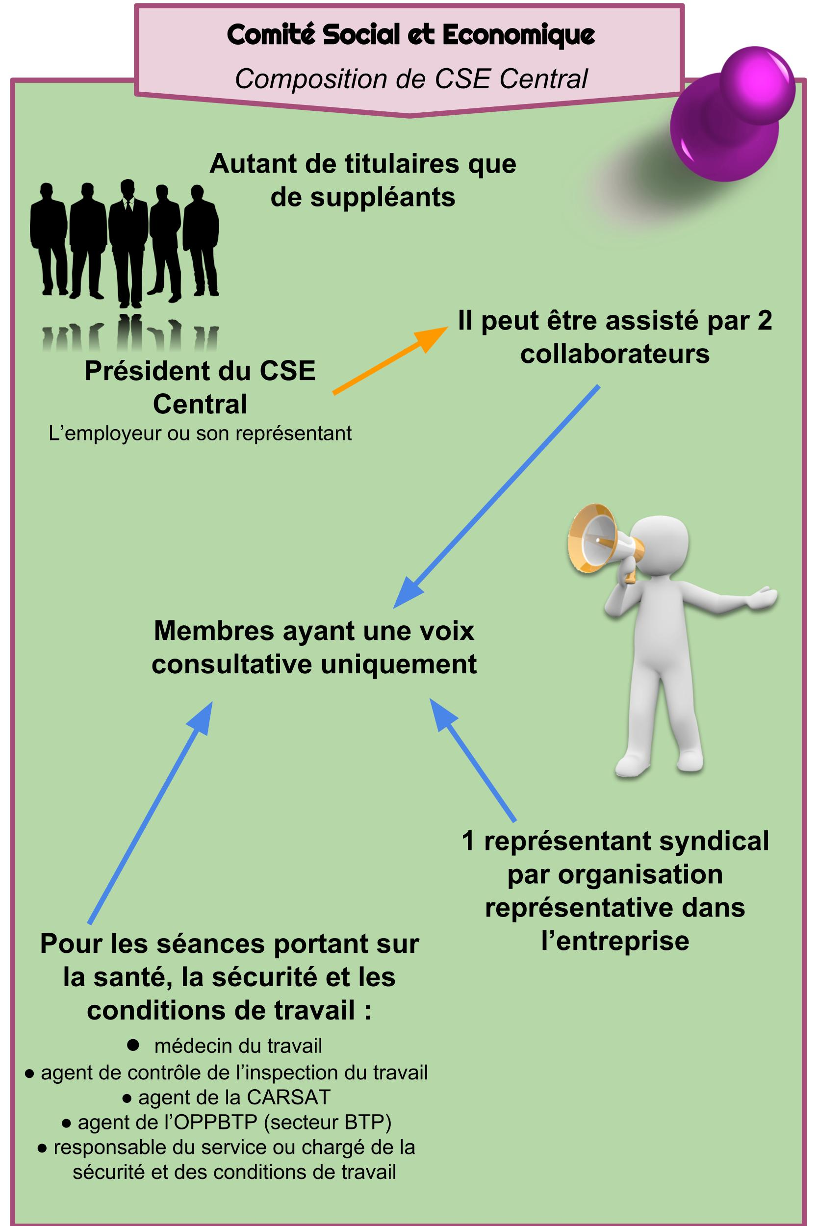 Comité Social et Economique - Composition de CSE Central